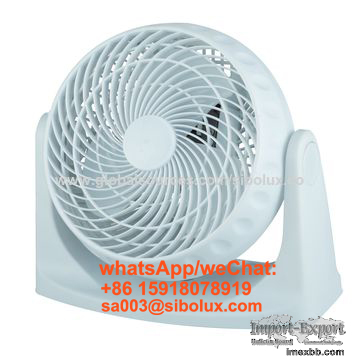 electric 8 inch plastic box fan with 360-degree rotary louver/table fan