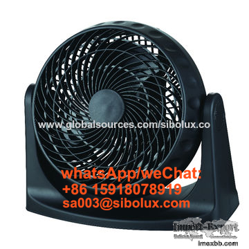 8 inch electric plastic box fan with 360-degree rotary louver/desk fan