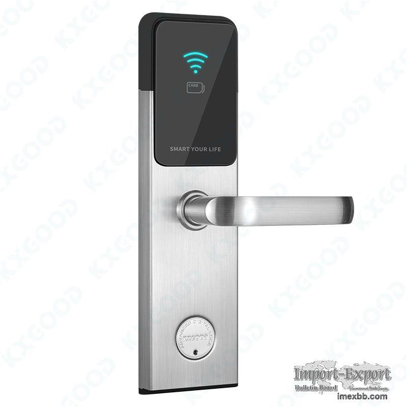 RFID Hotel Apartment Smart Safe Card Front Door Lock KXG-H1