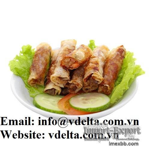 Hot Sale Delicious Frozen Spring Roll with Fresh Shrimp
