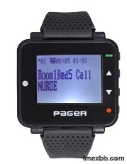 Alphnumberica watch pager pocsag paging system text message wrist receiver