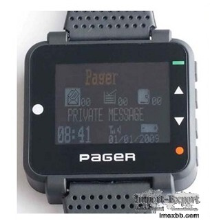 Wireless Alpha text message wrist display Pocsag paging system watch pager