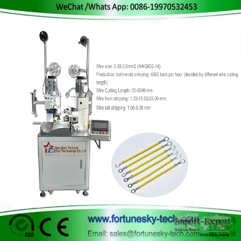 Fully automatic double-ends single wire terminal crimping machine