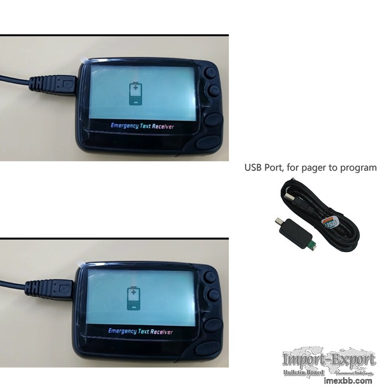 Rechargeable Li battery Pocsag text message pager wireless call receiver