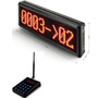 Wireless queue management pager LCD screen display number queuing call bell
