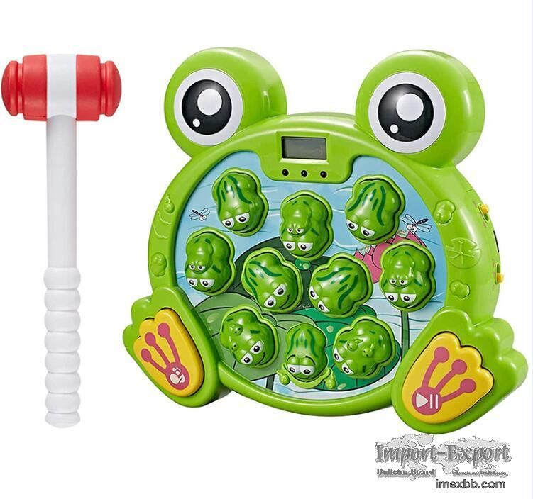 Frog playing hamster toy (3501400)