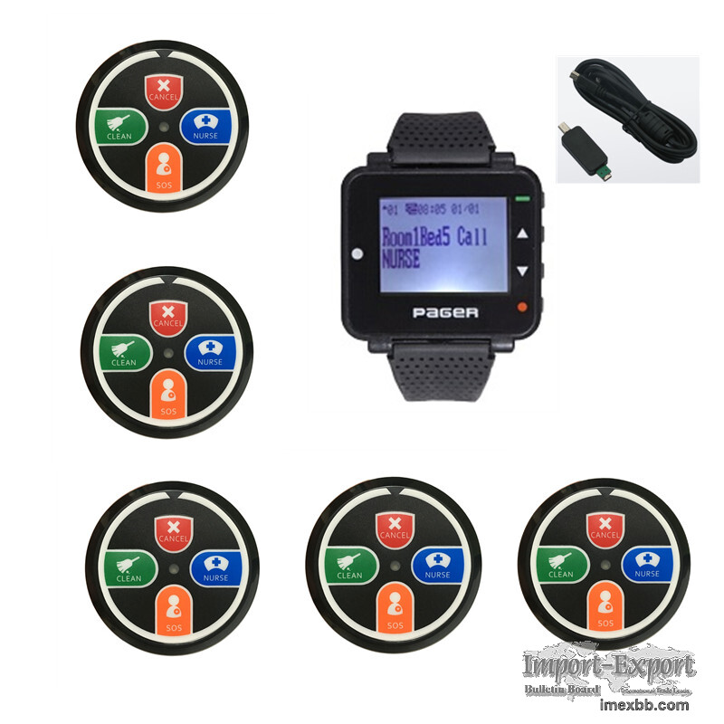 Hospital wireless nurse calling system text message watch paging system