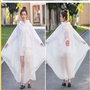 High quality waterproof translucent adult pvc rainwear