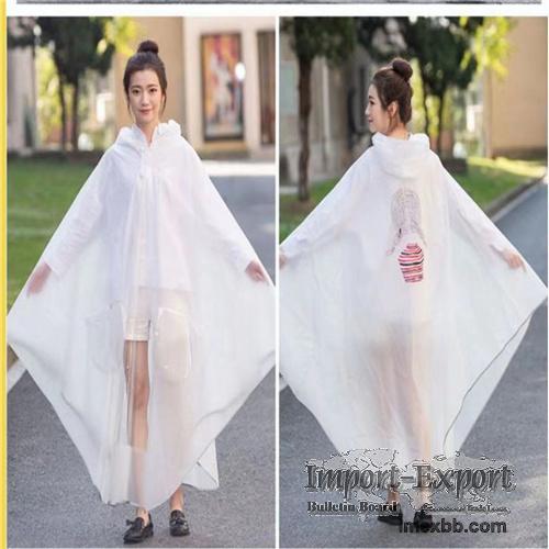 High quality waterproof translucent adult pvc rainwear