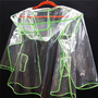 Translucent fluorescent green fashion adult pvc rainwear