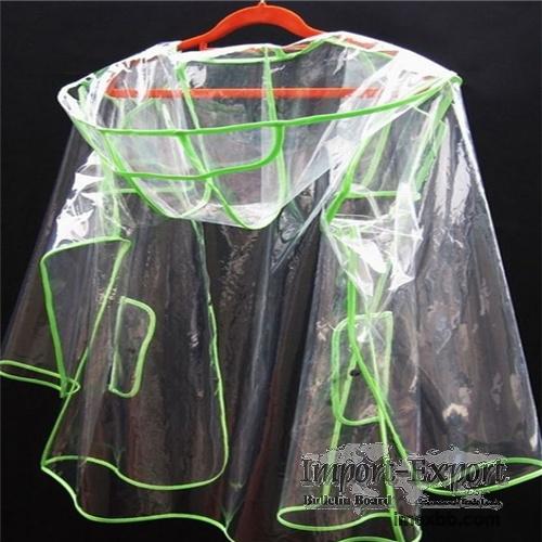 Translucent fluorescent green fashion adult pvc rainwear