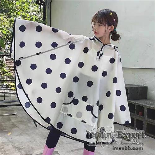 Fashion cape Pvc child rainwear