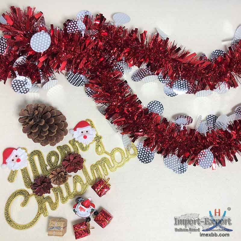 Hexing Best Selling Christmas Gingham Tinsel Great for party