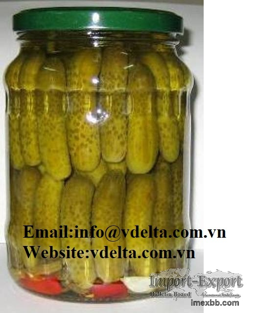 HIGH QUALITY CANNED PICKLED BABY CUCUMBER