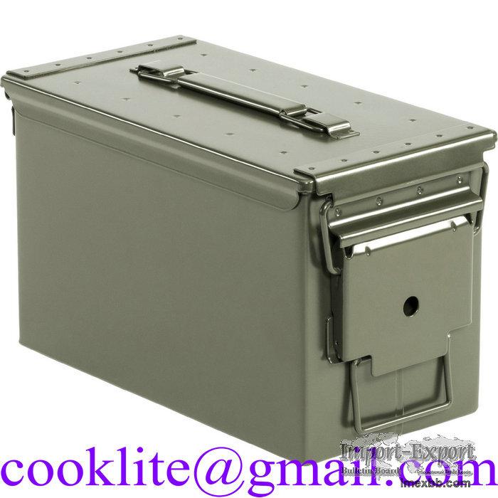 Vojenská municní ocelová bedna M2A1 Cal.50 Bedna US kovová na munici