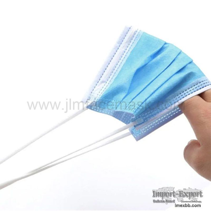 Nonwoven 3 Ply Face Mask Disposable Virus Protective Face Mask