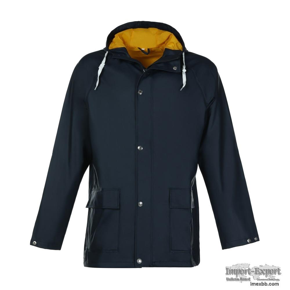 Men's PU Rain Jacket-KBM1080