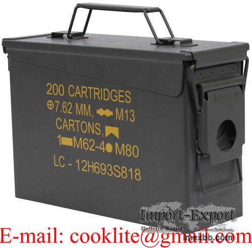 Amerikansk ammoboks 30 cal. stålboks opbevaringskasse for ammunisjon