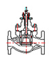 LN85 Series good dynamic stability Cage Guided Globe Control Valve