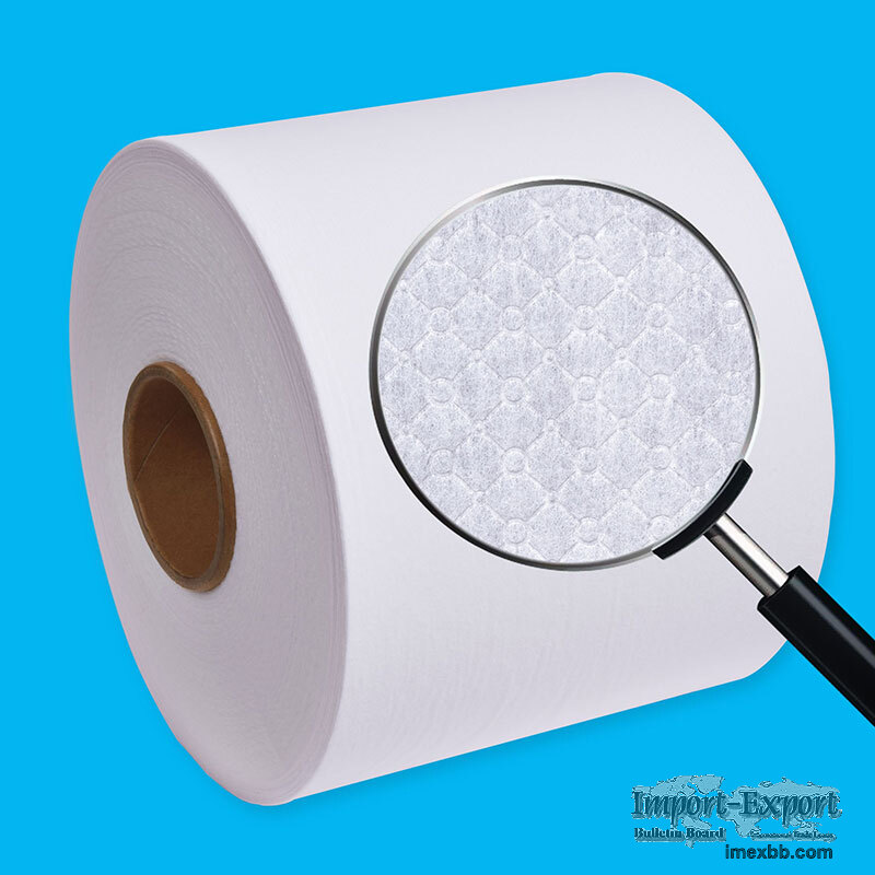 Hot air embossed, perforated non-woven fabric