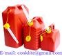 Plastmasas degvielas kannas ar uzgali sarkana  5L/10L/20L