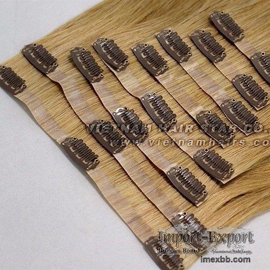 100% human hair - PU Clip-in Hair Extensions