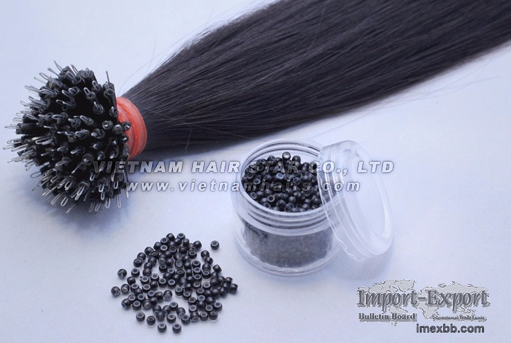 100% human hair - Nano-link Hair Extensions with Beads