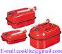Jerrican tanica orizzontale in metallo rossa con beccuccio per trasporto ca