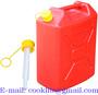Galão bidão bombona de polietileno vermelho 20L para água ou combustível