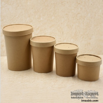 Kraft Soup paper cup with lid