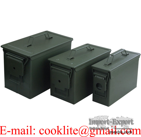 Metalna kutija za streljivo Americka vojna kutija za municiju