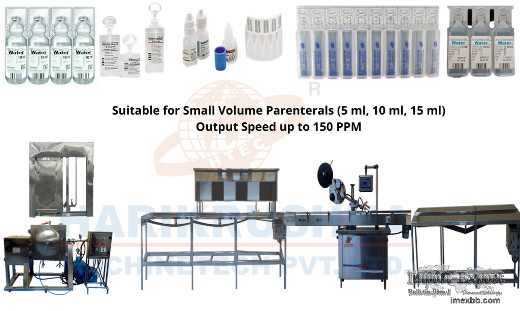 I. V. (Small Volume Parenteral) Packing Line