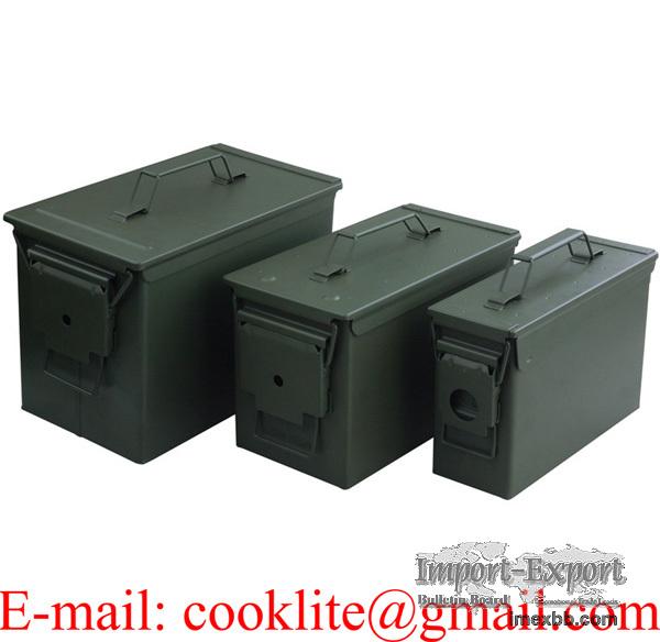 Boîte de rangement munitions moyen modèle / Caisse à munition en métal