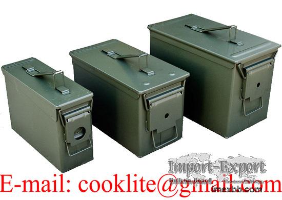 Caisse à munition militaria grand / Boîte métallique de rangement munitions