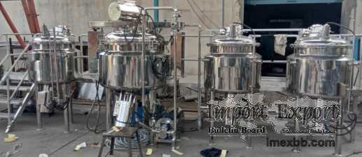 Ointment Manufacturing Plant - Cream, Lotion, Shampoo and Toothpaste