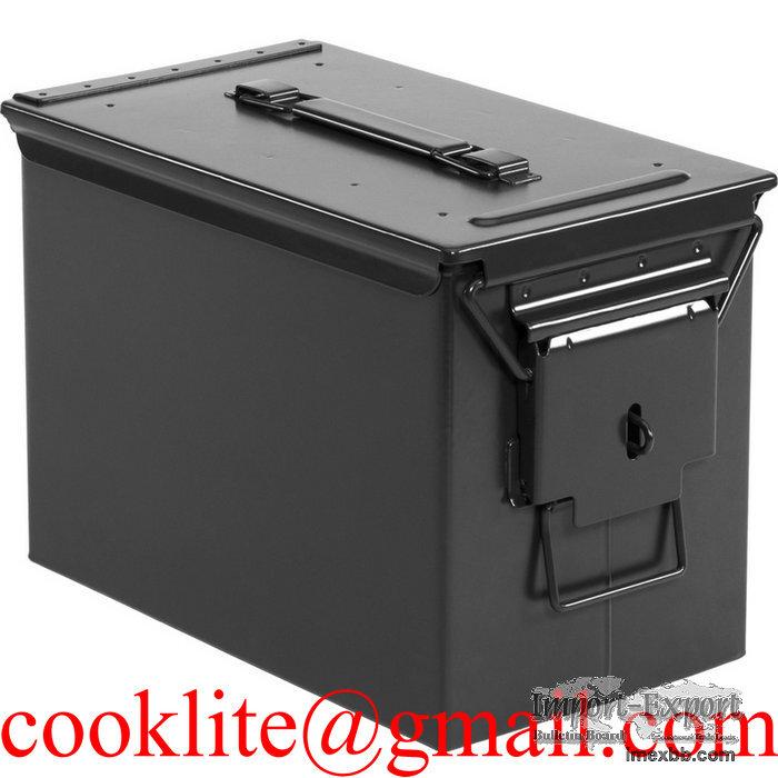 Cofre Caixa de municao metalico / Caixa de metal para municao - PA108 50Cal