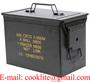 Cofre Caixa metalica porta municao / Caixa militar de municao - M2A1 50 Cal