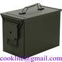 Caixa Cofre porta municao / Cofre metalico para municao - PA108 Fat 50 Cal