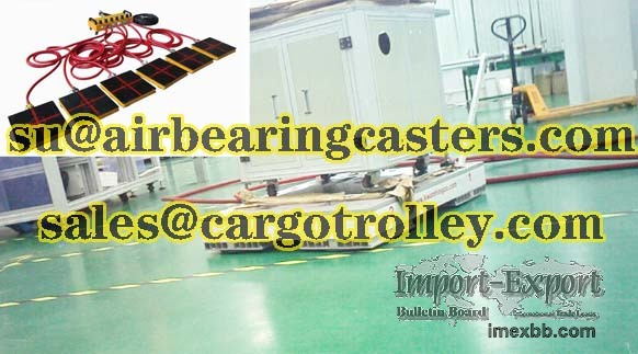 Air caster applied on moving and handling works
