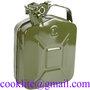 Plechový kanystr pohonných hmot s objemem / Rezervný kanister PHM 5l kovový