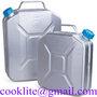 Transportdunk av aluminium bensindunk jeepdunk vattendunk med skruvlock