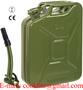 Leger groen gelakte stalen jerrycan/benzinekan 20L met stevige afsluiting
