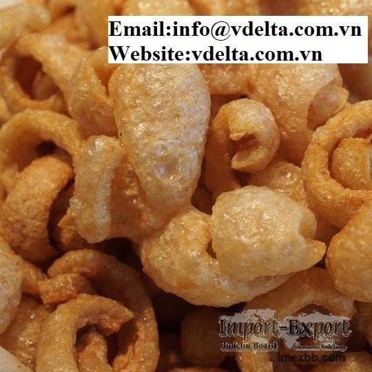 Snack Crispy, Fried Pork Skin from Vietnam