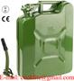 stalen leger jerrycan/benzinecan met druksluiting voor opslag en vervoer