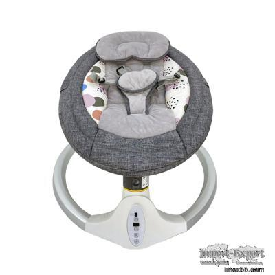 Coloured Baby Automatic Swing Bassinet With Vibration and Melody Function