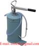 Smörjpump manuell med 16l behållare Handdriven oljedistributör Bärbar smörj