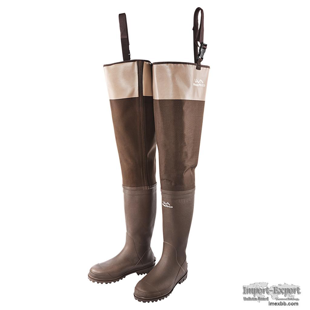 Brown Bootfoot Hip Wader HW02