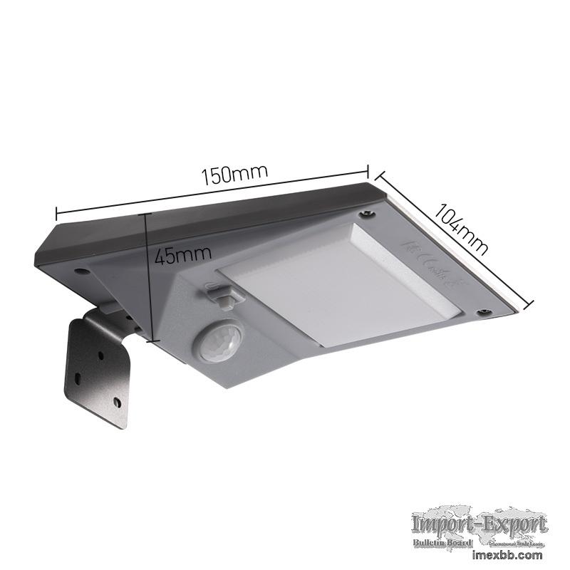 Motion sensor emergency garden solar wall lamp
