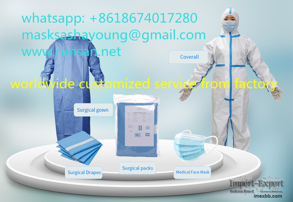 CPE Blue Disposable Gown with Thumb Holes