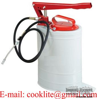 Ingrassatore pompa per grasso a barile con testina e tubo flessibile